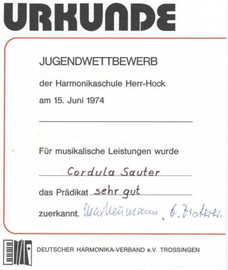Urkunde 1974